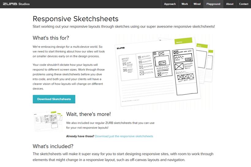 Responsive Sketchsheets
