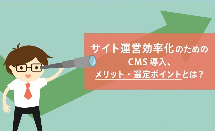 サイト運営効率化のためのCMS導入、メリット・選定ポイントとは? サムネイル画像